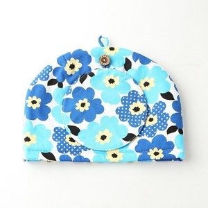 Tea Tea Pot Cover Pot Mat Set Flower Blue