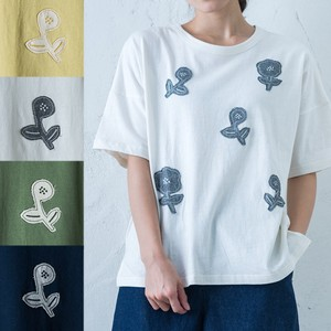 2018 S/S Scandinavia Flower Patchwork Embroidery T-shirt