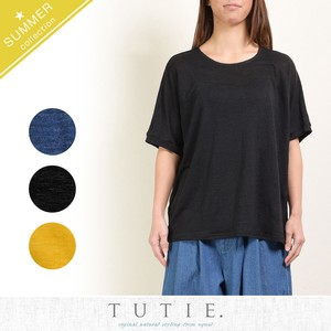 Linen Jersey Stretch Dolman Pullover