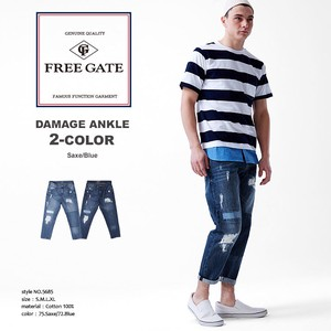 2018 S/S Damage Denim Ankle Pants