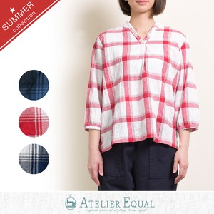 Shearing Checkered Blouse