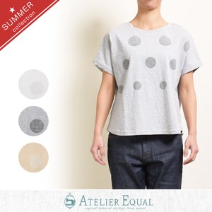 Cotton Jersey Stretch Dot Print Pullover