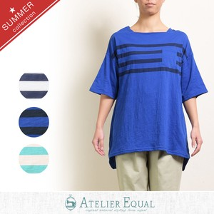 Cotton Jersey Stretch Panel Border Tunic