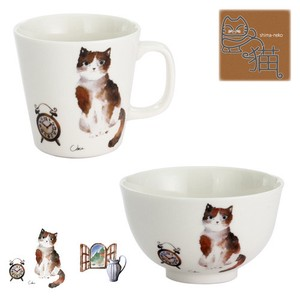 Porcelain 1Pc Cat Cup Rice Bowl