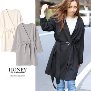 2018 S/S Eyelet Non-colored ponte fabric Coat Spring Coat Robe