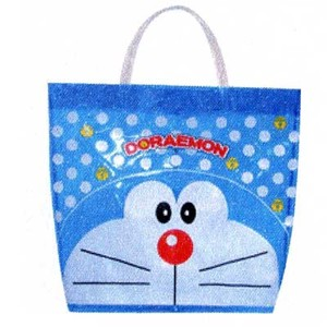 Doraemon Beach Bag Vinyl Square Shape Tote