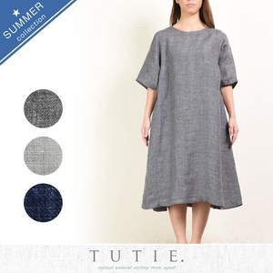 Top Linen Wide One-piece Dress