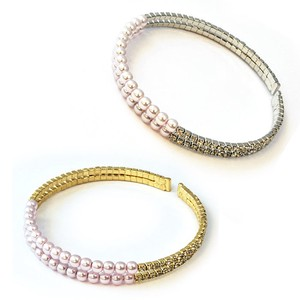 Pearl Rhinestone Bangle Duplicate Bracelet Bangle Watch Gift