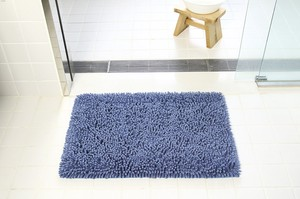 Pool Blue Bath Mat Scandinavian Style Slip Neil Fluffy Water Absorption