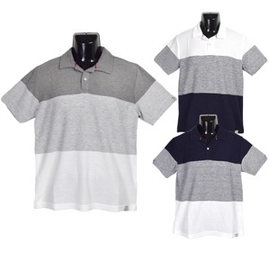 2018 S/S Tuck Jersey Stretch Sakizome Border 3 Steps Switching Polo Shirt