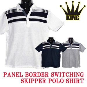 2018 S/S Panel Border Material Switching Polo Shirt