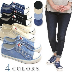 2018 S/S Low-rise Sneaker Shoe Ladies Slippon Damage Flat