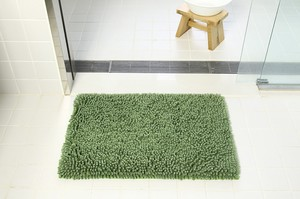 Pool Green Bath Mat Scandinavian Style Slip Neil Fluffy Water Absorption