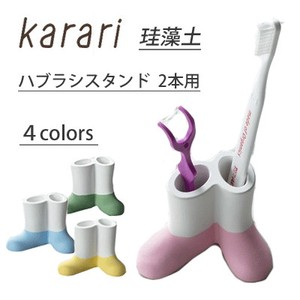 Diatomaceous Earth Toothbrush Stand 2 Pcs Pink Yellow Green Blue