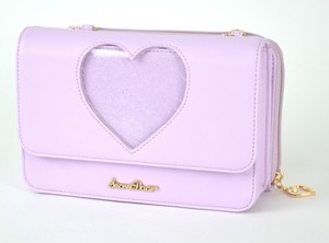 Clear Heart Wallet Shoulder Marshmallow