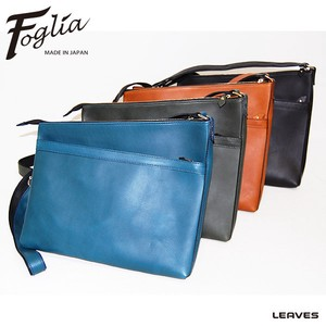 Foglia Oil Leather A4 Shoulder Bag