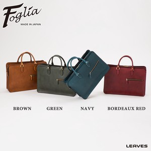 Foglia Oil Leather A4 Business Bag