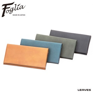 Foglia Oil Leather Long Wallet
