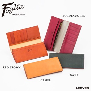 Foglia Italian Leather Long Wallet