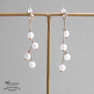 Pierced Earring Pearl Long Pearl Accessory