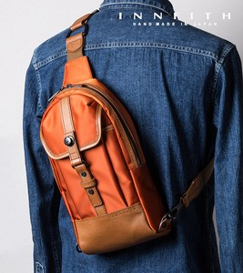 Factory High Density Nylon Twill Genuine Leather Body Bag Tokyo Water-Repellent