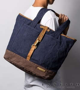 Factory Canvas Cotton Tote Bag A4 File Tokyo Stone