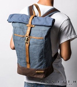 Factory Canvas Pig Skin Roll Top Backpack B4 Tokyo