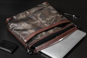 Factory Nylon Tan Leather Shoulder Bag A4 Camouflage Tokyo Water-Repellent
