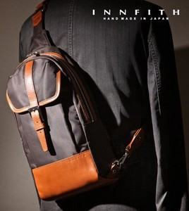 Factory Nylon Cow Leather Body Bag Tokyo Water-Repellent