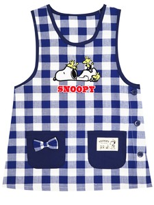 Kids Size Character Apron Snoopy Gingham Check