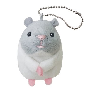 Djungarian Hamster Egg with Ball Chain / Plush Hamster Key Chain