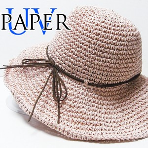 Hats & Cap Broad-brimmed Mesh Paper Hat Suede Ribbon Roll