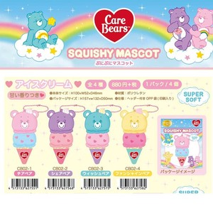 Squeeze Care Bear Punipuni Mascot Ice Cream 4 Colors Aroma