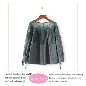 2018 S/S Lace Design Pullover Blouse