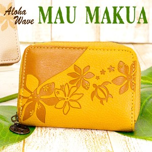 Commuter Pass Holder Attached Coin Purse Popular Aloha Wave Series