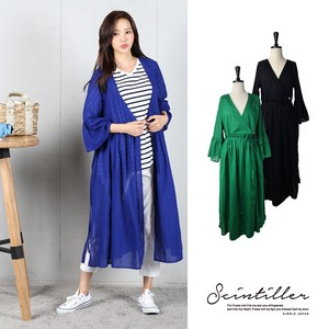 2018 S/S Cotton Cardigan Waist Ribbon Attached