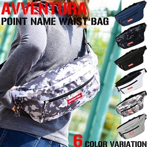 Point Name Nylon Waist Bag Ladies Men's Unisex
