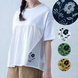 2018 S/S Gather Switching Embroidery T-shirt