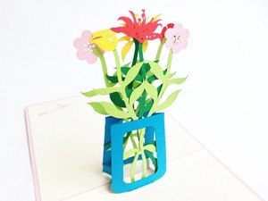 Pop Greeting Card Flower Vase