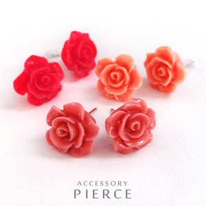 Rose Rose Flower Pierced Earring Quality Limit
