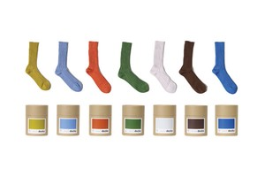 [Women] Cased heavy weight plain socks
