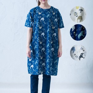 2018 S/S Scandinavia Repeating Pattern Box One-piece Dress