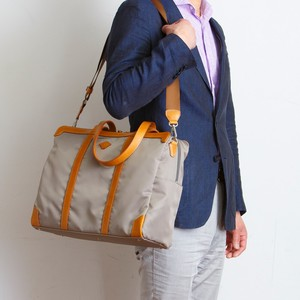 Water-Repellent Montana Tan Leather Overnight Bag Tote Bag Tokyo Light-Weight