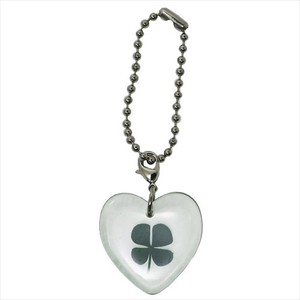 Collection Four Leaves Clover Motif Mascot Chain Heart
