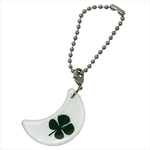 Collection Four Leaves Clover Motif Mascot Chain Crescent Moon