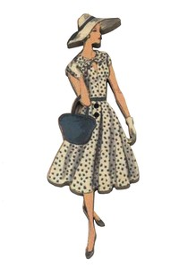 France Wooden Button Atelier Dot Dress Hat Ladies