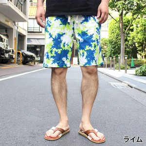 2018 S/S Fleece Bleach Repeating Pattern Shorts