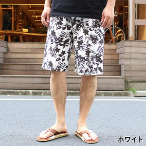 2018 S/S Fleece Botanical Repeating Pattern Shorts