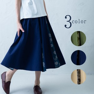 2018 S/S Repeating Pattern Box Pleats Skirt