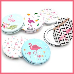 Compact Mirror Flamingo